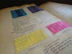 The Coal Tar Colours of Farbwerke vorm. Meister Lucius & Brüning, Hoechst on Main, Germany, Applied in Calico Printing (1908) #pink #yellow #blue