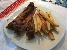 Ribs a la barbacoa, carne al horno, costillitas de cerdo