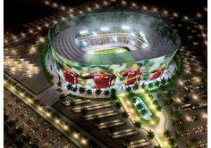 アル・ラッヤン・スタジアムは現在、座席数が2万1282席だが、上層階に席を増設するモジュールで、4万4740席に増大する。