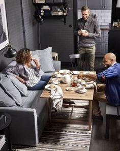 Nowy katalog IKEA 2017 - co w nim znajdziemy? - Nowy katalog IKEA 2017 - co w nim znajdziemy? Small Living Room Storage, Ikea Small Bedroom, Ikea Small Spaces, Small Living Room Furniture, Small Space Living Room, Ikea Living Room, Living Room Images, Living Room End Tables, Small Bedroom Designs