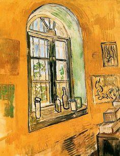 A Window in the Asylum, 1889 Vincent Van Gogh. Pinterest