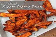 The BEST Oven Baked Sweet Potato Fries ever!!!  Clean eating at it's best!!!