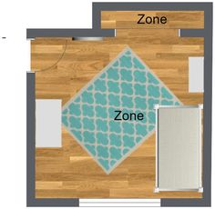 Over head option 2: remove current carpet to control allergens.Add sustainable wood flooring, a bright play rug, daybed w/ button tuck back & side boards, cubicle ottoman w/soft button tuck top