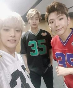 Minhyuk, Hyungwon, and Kihyun