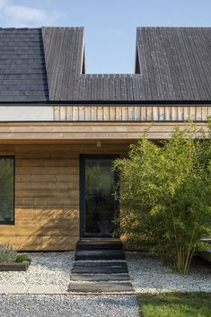 Gallery of House in Kapuvár / László Papp - plémühely - 43 Wooden Cladding, House Built, House Extensions, My House, Entrance, Backyard, House Design, Mansions, House Styles