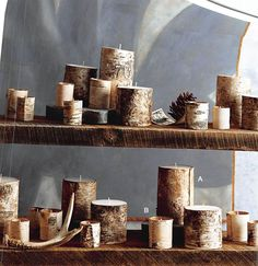 $80.00 Roost Natural Birch Bark Pillars
