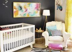 New baby girl nursery room ideas navy accent walls 41 Ideas Baby Bedroom, Nursery Room, Kids Bedroom, Kids Rooms, Bedroom Black, Baby Rooms, Bedroom Ideas, Bedroom Yellow, Room Baby