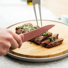 Slice, cut and chop like a pro with BergHOFF kitchen knives. From the first slice of bread in the morning to the chopped chicken breast for dinner, the right pieces of cutlery will easily see you through the day. Kitchen Knives, Kitchen Gadgets, Studio Paris, Deco Studio, Sexy Costumes For Women, Kitchen Drawers, Pink Bedding, Slice Of Bread, Knife Making