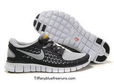 1aaaf08d417 Black Grey White Nike Free Runs Boys Free Running Shoes
