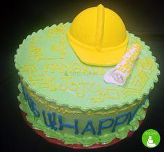 Cool Safety helmet birthday cake for civil engineers! ^_^ Must love Nikon Cakes! :D #cake #edibleart #cakedesign #foodporn #customizedcake #cagayandeoro #CDO #NikonCakes