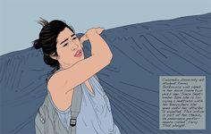 """Peruvian artist María María Acha-Kutscher lionizes female activists in the illustration series """"Indignadas (Outraged Women)."""""""