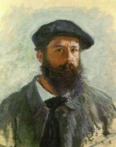 Self-portrait Claude Oscar Monet born in Paris in 1840