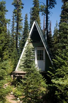 Tiny A-Frame cottage  perfect!!