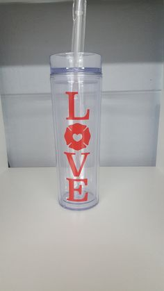 Personalized Fire Department Skinny Tumbler. Fire by ElleQDesigns