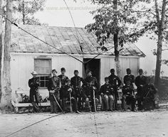 American Civil War Pictures & Photos | Officers of 3rd Battalion, 15th New York Heavy Artillery Fort Woodbury, Arlington, Virginia.