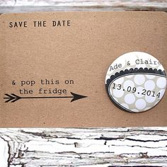badge or magnet save the date by orange blossom design | notonthehighstreet.com