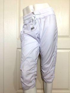 Kyodan Athletic Yoga Dance Capri Cropped Pants White (Medium) #Kyodan #PantsTightsLeggings