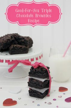 Good-For-You Triple #Chocolate Brownies made with all egg whites