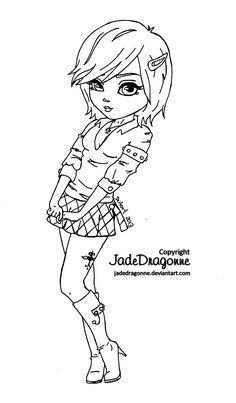 Skirt 'n boots - Lineart by JadeDragonne.deviantart.com on @deviantART