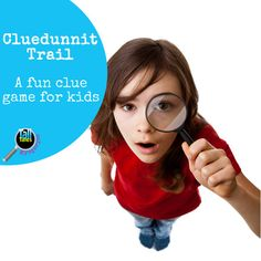 Cluedunnit Trail - a fun clue game for children. Printable game to add to a mystery party, play find the clues at home or in holiday clubs Mystery Escape Room, Clue Games, Murder Mystery Games, Holiday Club, Mystery Parties, Party In A Box, Boy Birthday Parties, Games For Kids, Printables