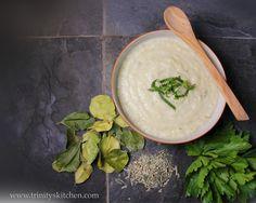 Celeriac & Coconut Soup (with kaffir lime leaves and lemongrass) #glutenfree #vegan #plantbased