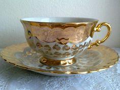 vintage richard ginori gold tea cup antique di vintageremember