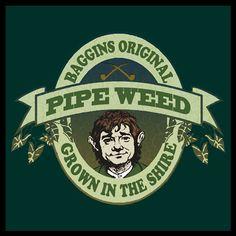 ~ Baggins Original Pipe Weed Design ~ Advertising ~ The Hobbit ~ ~ Artist Unknown ~