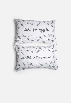 Until Tomorrow Pillowcase Set Neutral Palette, Minimalist Design, Bed Pillows, Pillow Cases, Prints, Xmas, Room, Pillows, Bedroom