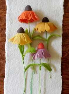Coneflower Felted Flower create your own bouquet #Feltflowers