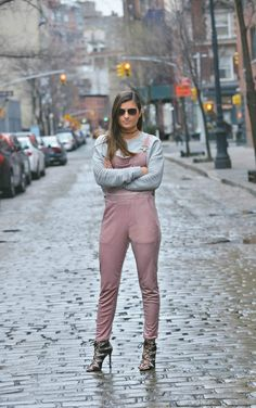 Velvet + Dusty Rose Overalls - winter fashion, winter street style, winter look, spring outfit ideas, Second Skin Overalls, NYC Fashion Blogger Tilden of To Be Bright