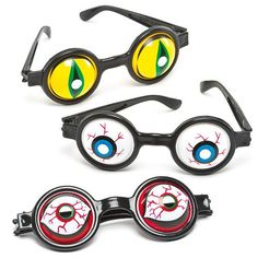 Baker Ross Spooky Eye Glasses⁠ — Halloween Novelty Toys for Kids, Perfect Party, Loot or Prize Bag Filler, Assorted Colours (Pack of Halloween Treats For Kids, Halloween Eyes, Halloween Crafts, Kids Glasses, Eye Glasses, Monster Party, Kids Fashion Wear, Pochette Surprise, Spooky Eyes