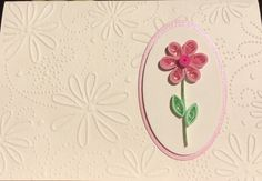 These 3 quilled floral cards are sure to brighten someones day! The quilled designs add dimension to the card so that they seem to stand up on their own. The beautiful floral embossed pattern adds texture to the cards and is the perfect background. The insides of the cards are blank so you can choose to send it for a birthday, thank you, get well, thinking of you, or any other occasion you may have. The cards come with white envelopes. The cards and envelopes will be placed in a cellophane…