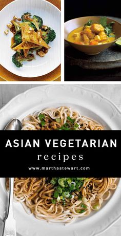 Asian Vegetarian Recipes| Martha Stewart Living - Vibrant with spices and savory sauces, fresh vegetables, tofu, and beans, Asian dishes are a vegetarian's dream. Dive into these recipes inspired by Chinese, Japanese, Thai, and Indian cuisine.