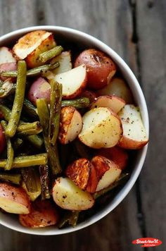 This green bean and potato recipe by Go Red For Women makes for a perfect side dish! Try it alongside grilled chicken or salmon for a healthy dinner.