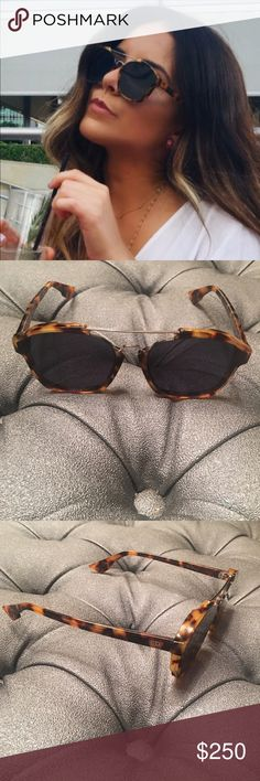 Dior Havana Abstract Dior Abstract YHAA9 58 sold out through out.  Havana brown Tortoise paired with midnight blue lens. Made in Italy. Beyond stunning. Glasses only. May have hairline scratches on lens and frame from being tried on. Does not impede with vision Dior Accessories Sunglasses