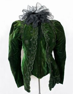 Felix beaded velvet jacket, c.1898, from the Vintage Textile archives.