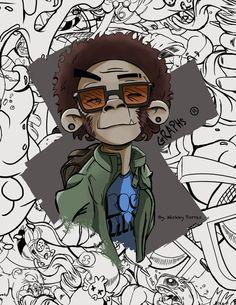 Graffiti CRAZY MONKEYS (GRAPS) by Mickey Torres, via Behance