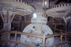 inside a working windmill Zaanse Schans, Noord-Holland