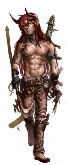 tiefling warrior, barbarian Twilight Princess, Medieval Fantasy, Fantasy Rpg, Fantasy Warrior, Character Portraits, Character Concept, Character Art, Character Design, Fantasy Races