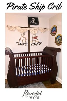 How to build a Pirate Ship Crib Pirate Nursery, Nautical Nursery, Girl Nursery, Nautical Theme, Nautical Baby, Wood Deck Railing, Cabinet Paint Colors, Diy Crib, Nursery Themes