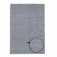 Ręcznie tkany dywan Flat Blue Waves, 100x160 cm | Bonami