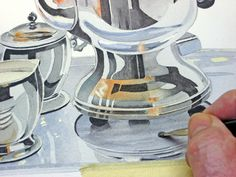 Silver service - a watercolour demo - a set on Flickr