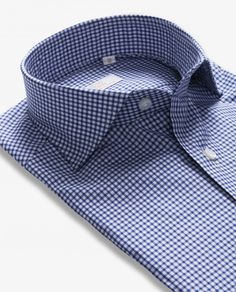 #Gingham checked #shirts, made feom sea island cotton, a #luxurious type of cotton. #top #qualityshirts #menswear #menwithstyle #100Hands #mnswrmagazine #pauwmannen #pauw .#shirtmakers #Netherlands .