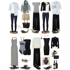 """One Week Wardrobe (Vacay)"" by prettyannamoon on Polyvore"