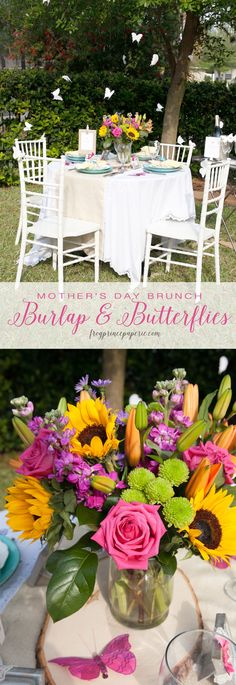 Burlap And Butterflies Mother's Day Brunch Ideas