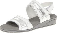 Walking Cradles Womens Vista Wedge SandalWhite9 WW US * Check this awesome product by going to the link at the image.