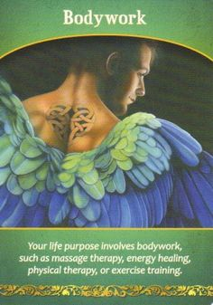Your life purpose involves bodywork, such as massage therapy, energy healing, physical therapy, or exercise training. Angel Readings, Free Angel, Angel Prayers, Angel Guidance, Angel Cards, Oracle Cards, Card Reading, Life Purpose, Giclee Print