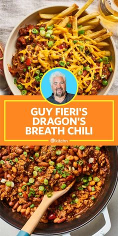 Guy Fieri's Spicy Chili Recipe Packs a Serious Punch Dinner Recipes food network recipes Spicy Chilli Recipe, Best Easy Chili Recipe, Chilli Recipes, Spicy Chili, Wing Recipes, Spicy Food Recipes, Thai Recipes, Recipes Dinner, Chili Recipe Guy Fieri