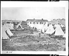 A 'contraband' camp in Richmond, Virginia. Contraband was a term commonly used in the United States military during the Civil War to describe escaped slaves who the US would not return to the South.