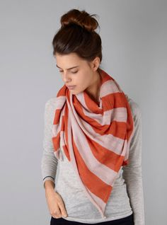 Couverture and The Garbstore - Womens - Karakoram - Alpaca stripy PA43 Scarf